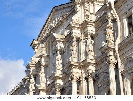 The Novo-Mikhailovsky Palace on Dvortsovaya Embankment in St.Petersburg Russia.