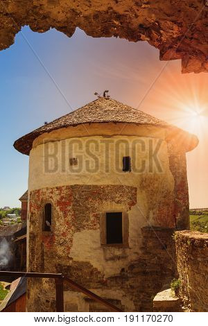 Tower inside the Castle in Kamyanets-Podilsky Ukraine