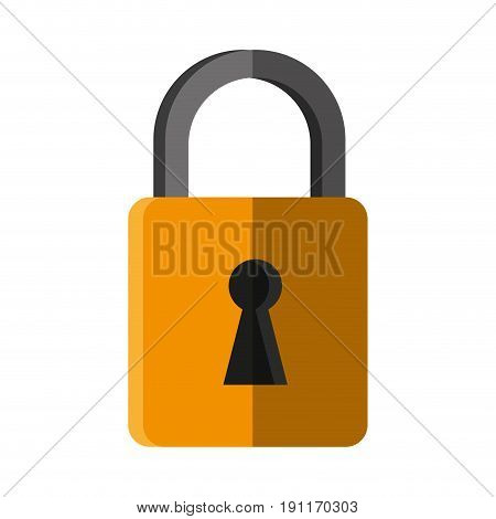 Locked padlock accessory icon vector illustration design graphic shadow