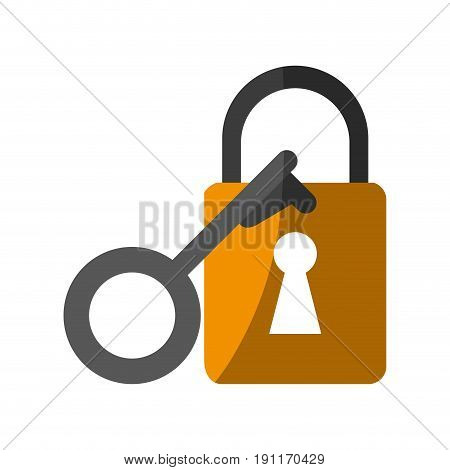key lock close icon vector illustration design graphic shadow