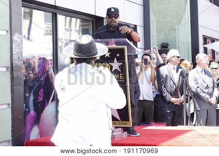 LOS ANGELES - JUN 12: Ice Cube, Sir Jinx at a ceremony as Ice Cube is honored with a star on the Hollywood Walk of Fame on June 12, 2017 in Los Angeles, CA