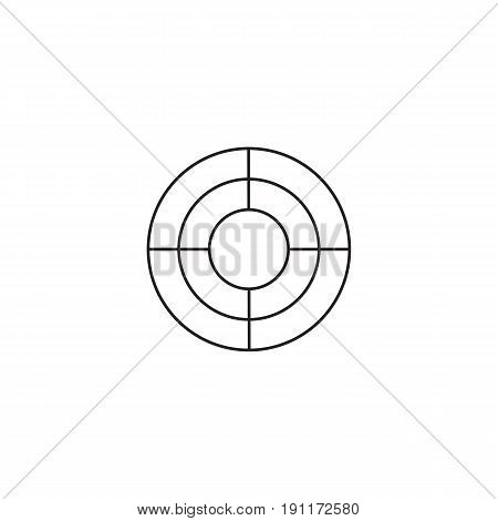 SEO target bullseye icon, Successful Business, dart symbol, vector graphics, a linear pattern on a white background, eps 10.