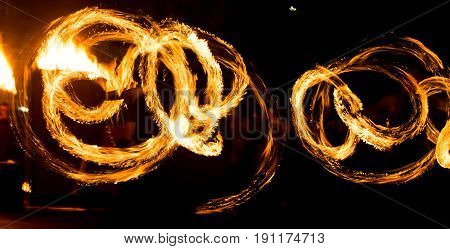 Abstract background of flame on fire show .