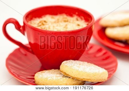 Butter Cookies Preparation : Coffee and butter cookies