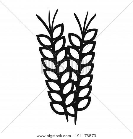wheat spike isolated icon vector illustration design