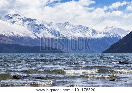 beautiful scenic of lake wanaka new most popular natural traveling destination in new zealand
