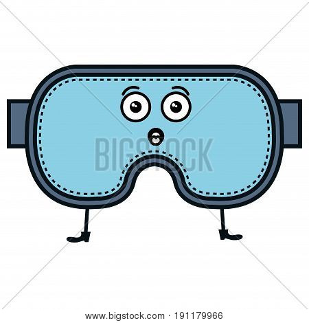 diving googles kawaii character vector illustration design