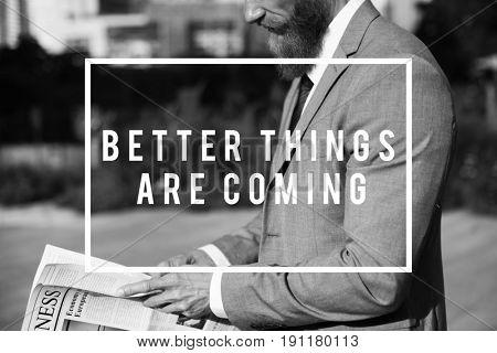 Positive Optimistic Quote Message Vision Aspiration