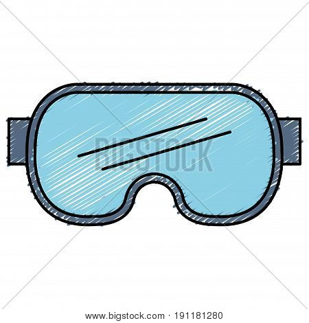 diving googles isolated icon vector illustration design