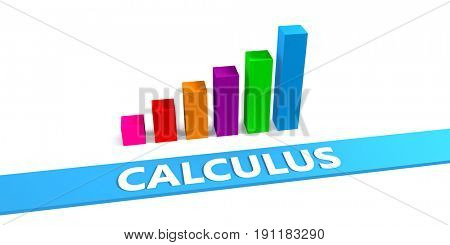 Great Calculus Concept with Good Chart Showing Progress 3D Illustration Render