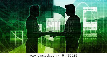 Strategic Partnership in a Business Environment Concept 3D Illustration Render