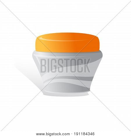 cream cosmetic products on a white background. Cosmetic package vector illustration.