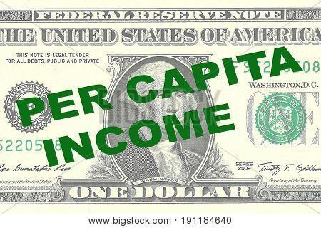 Per Capita Income - Economic Concept