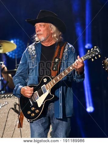 NASHVILLE, TN-JUN 10: Country singer John Anderson performs in concert during the CMA Music Festival on June 10, 2017 at Nissan Stadium in Nashville, Tennessee.