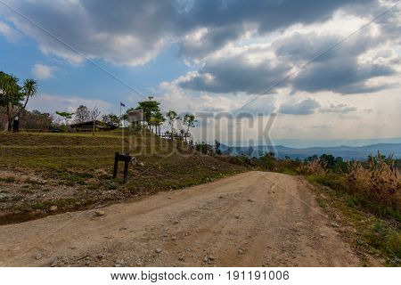 A Small Dirt Road To Nean Sawan Viewpoint
