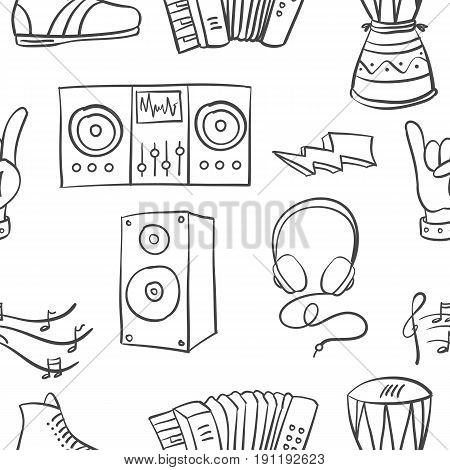 Collection stock of doodle music vector art