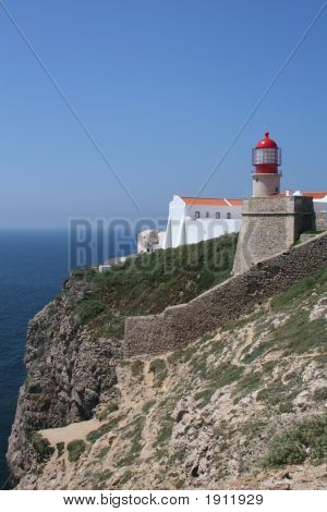 Lighthouse On Cliff