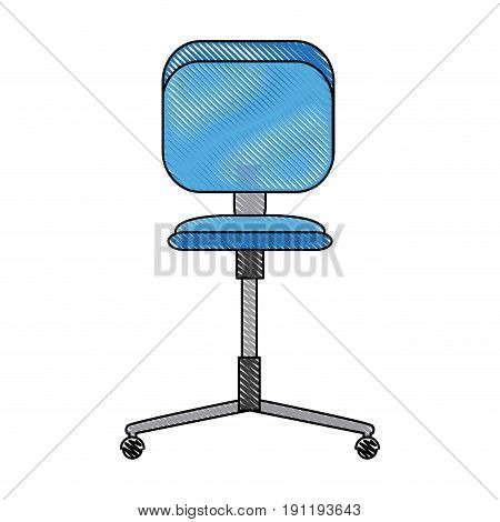 office chair wheel seat comfortable icon vector illustration