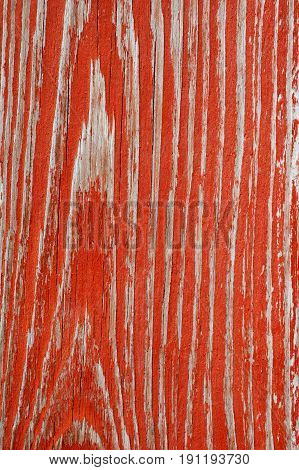 Old Red Painting Wooden Desk