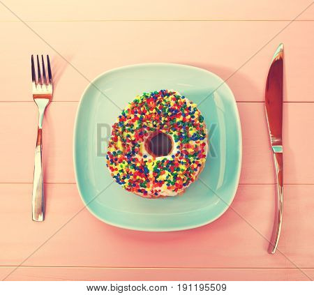 Donut Dish And Silverware
