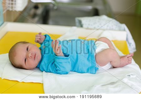 Newborn Baby Infant In The Hospital