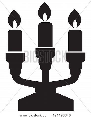 Candlestick symbol baptist belief black candelabra candelabrum
