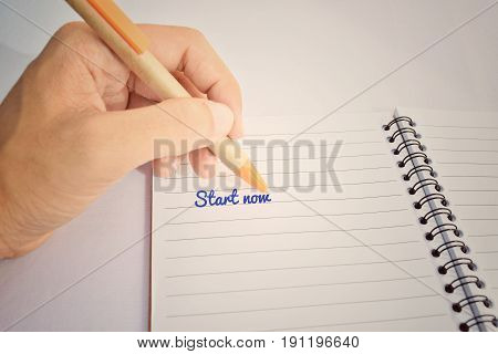 Notes into a book Or start writing about business.