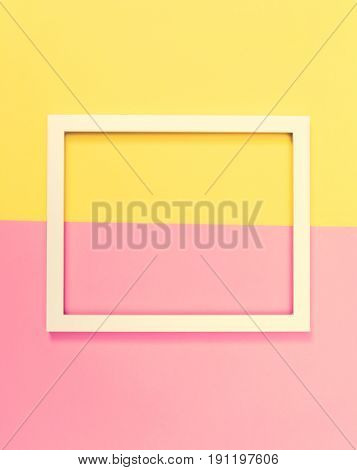Empty Frame On A Bright Split Background