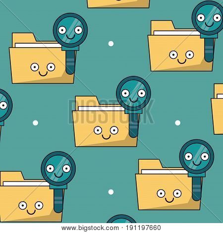 colorful background with pattern of folders and keys animated vector illustration