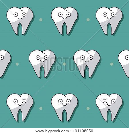 colorful background with pattern of teeth animated vector illustration