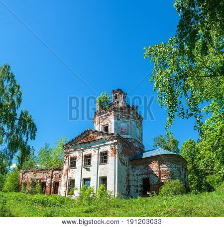Church of St. George in the village of Saint George on a clear Sunny day Ivanovo oblast Russia.