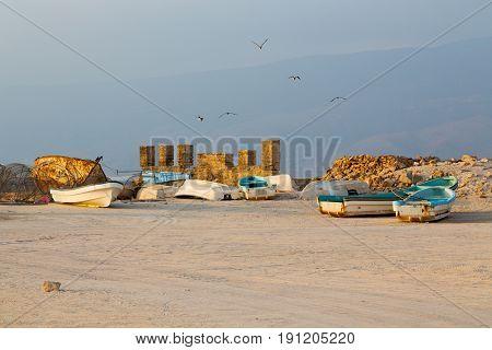 In Oman Arabic Sea     Sandy Beach