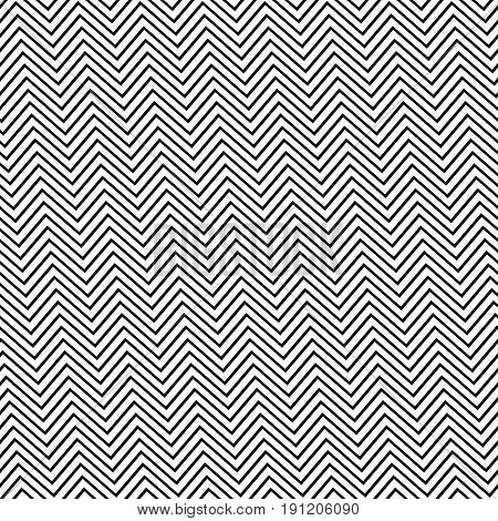 Black and white seamless angular zig zag line pattern background