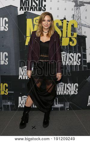 NASHVILLE, TN-JUN 07: Olivia Lane attends the 2017 CMT Music Awards at the Music City Center on June 7, 2017 in Nashville, Tennessee.