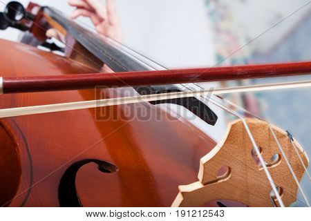 Man Playing On Cello