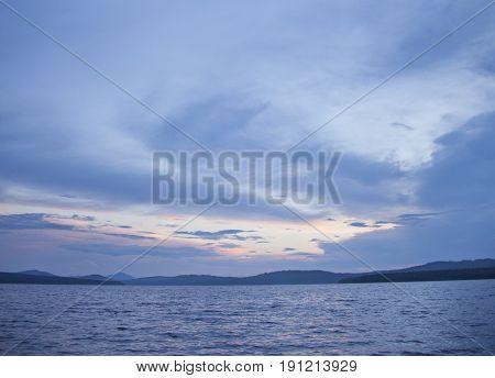 Lake Zyuratkul. Ural Landscape