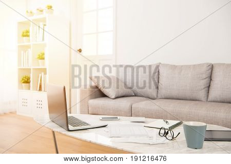 Empty No People Background In Living Room