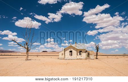 Abandoned Railway Station Of Garub In The Desert, Namibia