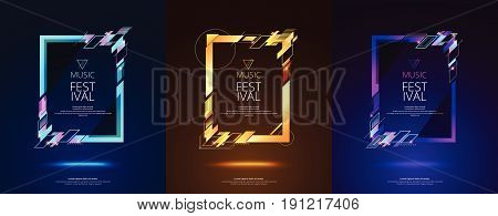 Frame Design For Text Modern Art Graphics For Hipsters. Dynamic Frame Stylish Geometric Black Backgr