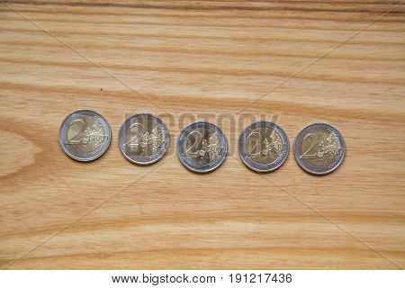 National Anniversary Euro Coins. Latvian Currency.