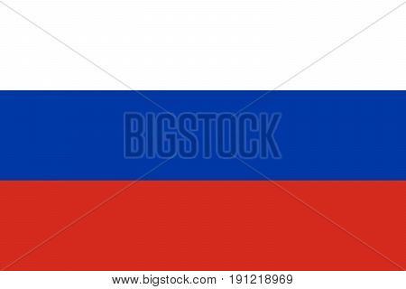 Original national flag of Russian Federation (Russia)