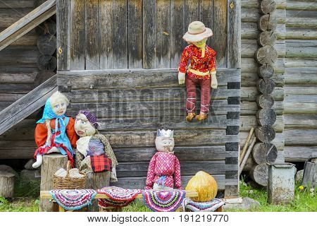 Toys Old Clothes In Russia On The Street In The Village