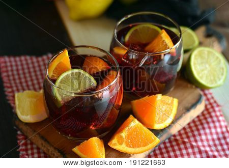 Glassof Ice Cold Sangria