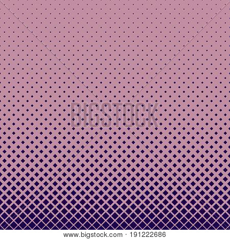 Abstract halftone pattern design background from dark purple diagonal squares in varying sizes - vector graphic