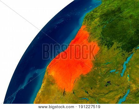 Angola On Globe