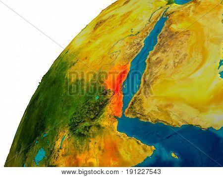 Eritrea On Globe