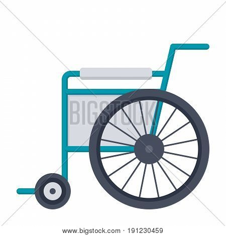Wheelchair or wheel chair, vector illustration in flat style