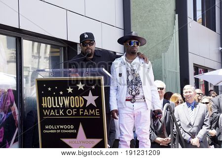 LOS ANGELES - JUN 12:  Ice Cube, Sir Jinx at the Ice Cube Star Ceremony on the Hollywood Walk of Fame on June 12, 2017 in Los Angeles, CA