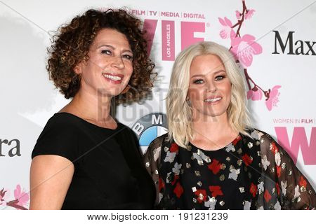 LOS ANGELES - JUN 13:  Donna Langley, Elizabeth Banks at the Women in Film Los Angeles Celebrates the 2017 Crystal and Lucy Awards at the Beverly Hilton Hotel on June 13, 2017 in Beverly Hills, CA