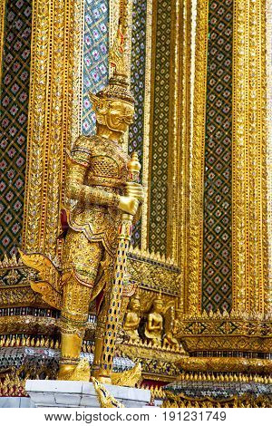 Demon   The Temple Bangkok Asia    Gold Wat  Palaces   Monster